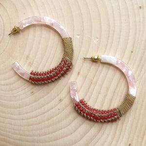 NWT Anthropologie Serefina Resin Hoop Earrings